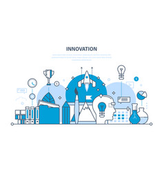innovation creative brainstorming research vector image vector image