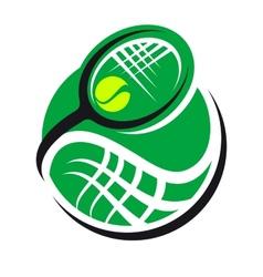 Tennis ball and racquet icon vector image