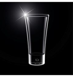 Empty Glass on black vector image