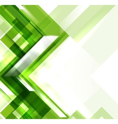 Green modern geometric absract background vector image vector image