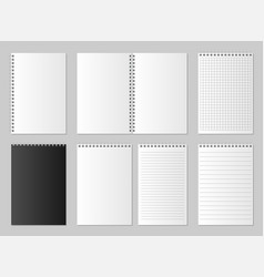 realistic blank open and closed organizer vector image