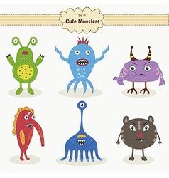 Set of cute monsters vector