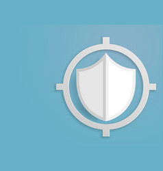 shield protection paper art background vector image