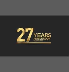 27 years anniversary celebration with elegant vector