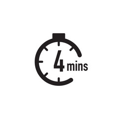 4 minutes timer stopwatch or countdown icon time vector