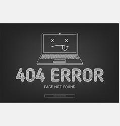 404 error not found page in blak board vector