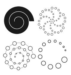 Abstract dot set spiral vector