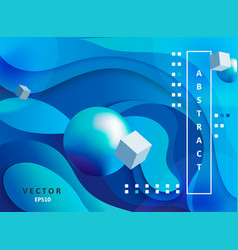 abstract gradient background with balls and cubes vector image