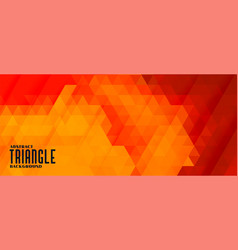 abstract triangle pattern background in warm vector image