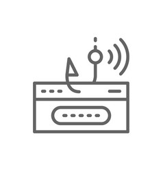 account password and fishing hook data phishing vector image