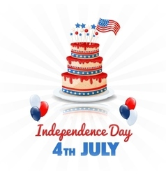 american independence day 4th july usa holiday vector image