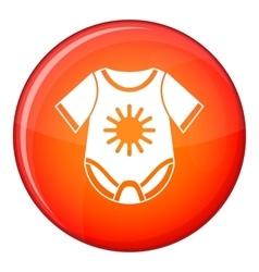 Baby bodysuit icon flat style vector image