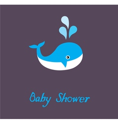 Baby shower whale vector