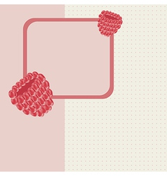 Background raspberry greeting card vector