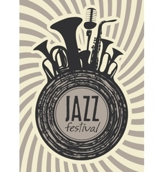 banner for jazz festival vector image