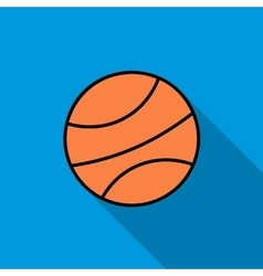 Basketball ball icon flat style vector image