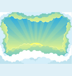 beautiful sunrise and clouds vector image