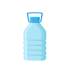 Big plastic bottle with blue lid and handle for vector