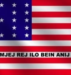 Bikini atoll flag vector