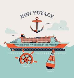 Bon Voyage Poster vector image