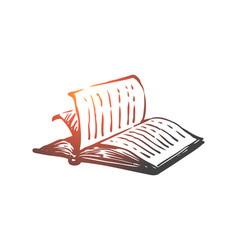 book open paper literature knowledge concept vector image