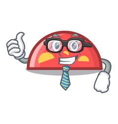 businessman semicircle character cartoon style vector image