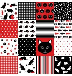 Cat Scrapbooking Paper Set vector image