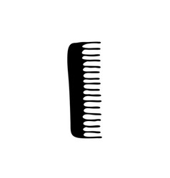 Comb doodle icon vector