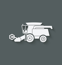 combine harvester farm machinery vector image