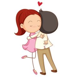 Couple Hug vector image