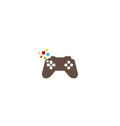 creative gamepad pixel logo design symbol vector image