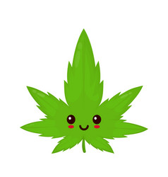 cute funny smiling happy marijuana vector image