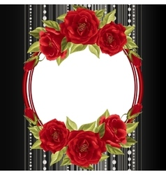 Delicate frame with roses vector image