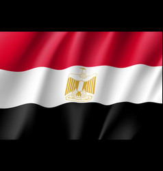 Egypt realistic flag vector
