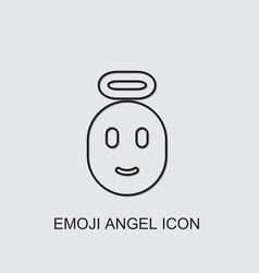 Emoji angel icon vector