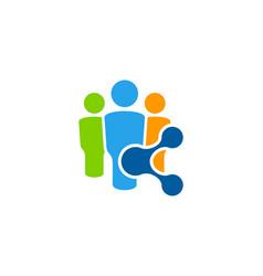 Employment share logo icon design vector