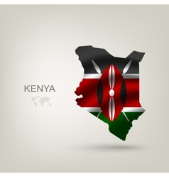 flag kenya as a country vector image