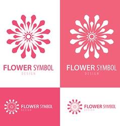 Flower symbol icon vector image