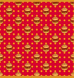 food seamless pop pattern with burger for vector image