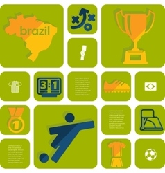 football soccer infographic vector image