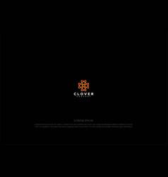 geometric simple minimalist modern clover flower vector image