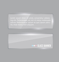 Glass banner vector