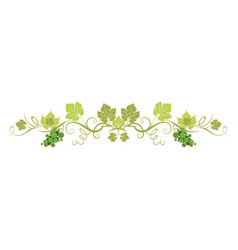 green organic border vector image