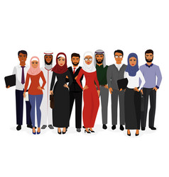 Groupe arab man and woman vector
