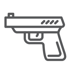 gun line icon weapon and revolver pistol sign vector image
