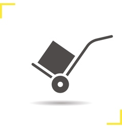 Hand truck icon vector