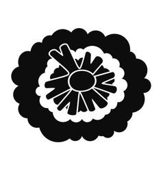 Health broccoli icon simple style vector