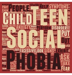 How to Identify Social Anxiety in Teens text vector image