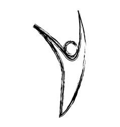 Human figure icon vector
