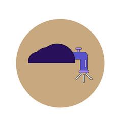 In flat design of water crane vector